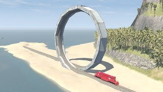 Calculated Train Stunts #2 - beamng drive