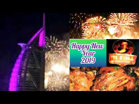 New Year 2019 Fireworks at Burj Al Arab, Jumeirah Beach, Dubai( Vlog # 1)