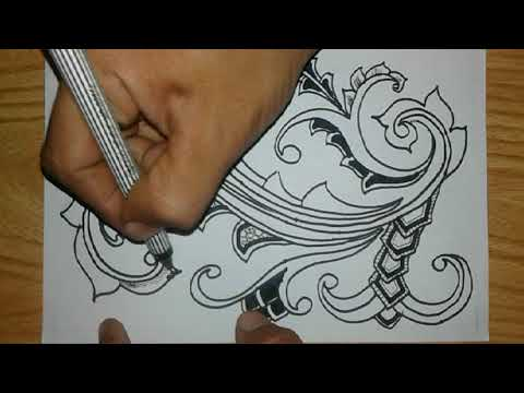 Contoh Membuat Batik Pola Ornamen Dengan Mudah Youtube