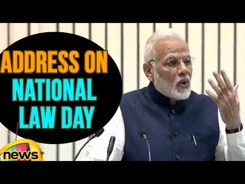 PM Modi Valedictory Address On National Law Day, 2017 | Mango News