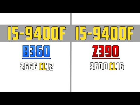 Z390 vs B360 i5-9400f + RX5700