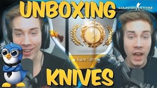 KNIFE UNBOXING COMPILATION! CS GO Case Opening