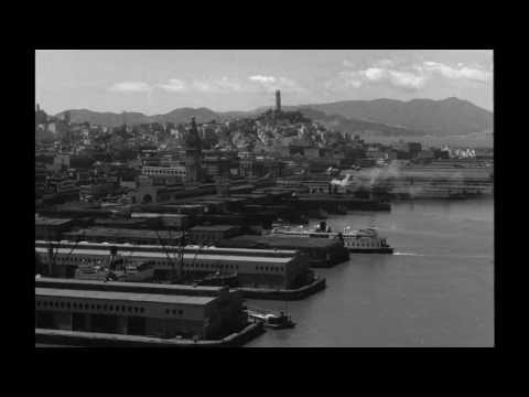 San Francisco Waterfront Bay Bridge And Ferries (ca. 1930s)