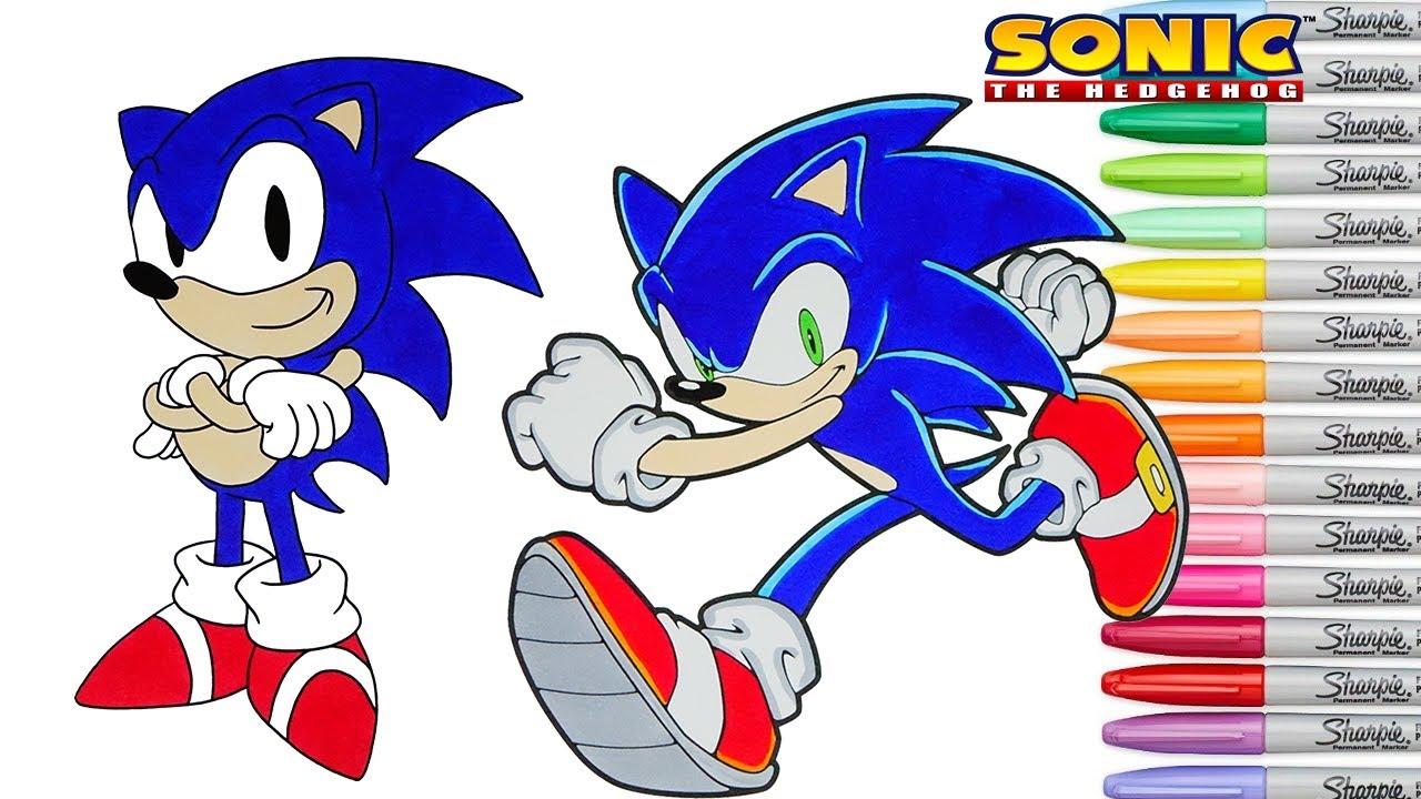 Then Vs Now Sonic Coloring Book Pages Rainbow Splash Sega