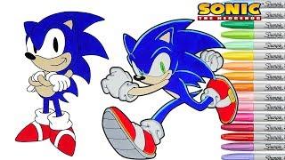 Then Vs Now Sonic Coloring Book Pages Rainbow Splash Sega Genesis
