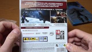 Unboxing Dead Space 3 limited edition + steelbook