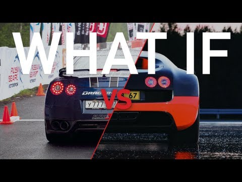 Bugatti Veyron Super Sport vs Nissan GT-R AMS Alpha 12+