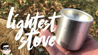 Lightest Backpacking Stove w/ White Box Alcohol Stoves