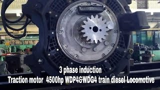 3phase induction ac Traction motor of 4500hp wdp4 train diesel locomotive