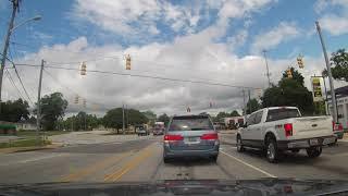 Driving through Greenwood South Carolina