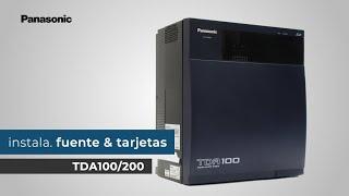 TDA-Instalación de Fuente y Tarjetas