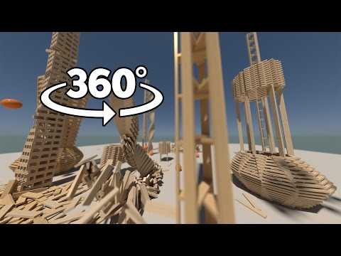 Plank World 360°   Physics Simulations In Virtual Reality (Stereoscopic 360°)