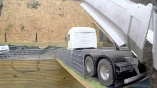 Slow Motion Tamiya 6x6 Scania Tipper Dumper Truck Tipping Topsoil