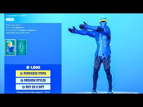 *NEW* NINJA PON PON DANCE EMOTE + SKIN..! (Item Shop) Fortnite Battle Royale