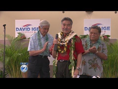 David Ige opens campaign headquarters