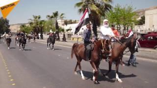 بالفيديو...فرسان الشام يقطعون طريق المزة