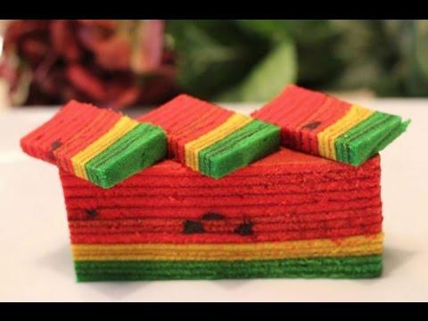 Resepi Kek Lapis Sarawak Sedap & Mudah - YouTube
