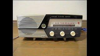 シャープの真空管ラジオ です。 発売は昭和35年頃、mt管レス機、使用真...