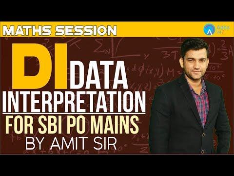 SBI PO MAINS   DI FOR SBI PO MAINS 2018  MATHS Amit sir