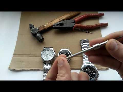 Как укоротить металлический браслет часов / как подогнать браслет под руку