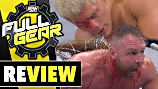 AEW Full Gear Review - GRENZE ÜBERSCHRITTEN? - 09.11.19 (Wrestling Podcast Deutsch)