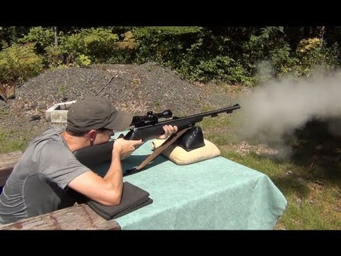 Shooting the TC Omega z5.50 caliber muzzleloader