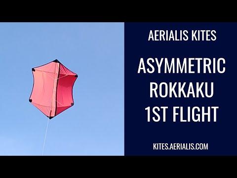 Asymmetric Rokkaku - Initial Flight