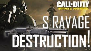 "Infinite Warfare - ""THAT GUN IS OVERPOWERED!"" 50+ Kill S-Ravage TDM DESTRUCTION!"
