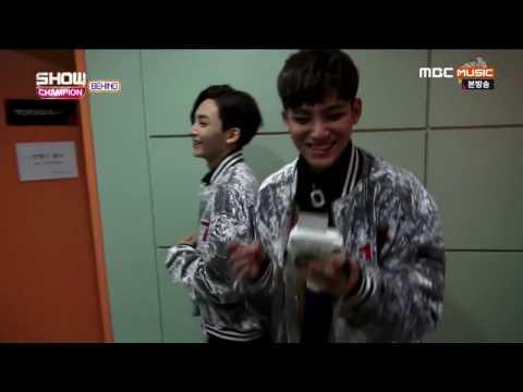 [ENG SUB] Boyfriend Pics - Seventeen_Show Champion Behind 170103