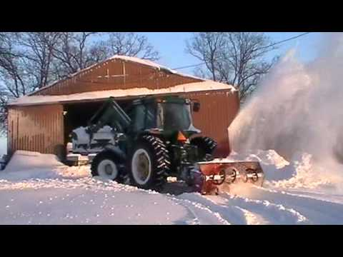 Tractor Mounted Snow Blower Youtube