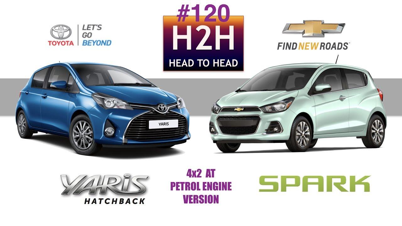 H2h 120 Toyota Yaris Vs Chevrolet Spark Youtube