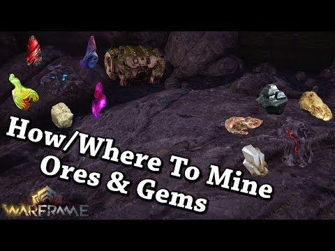 Warframe   How/Where To Mine Ores & Gems