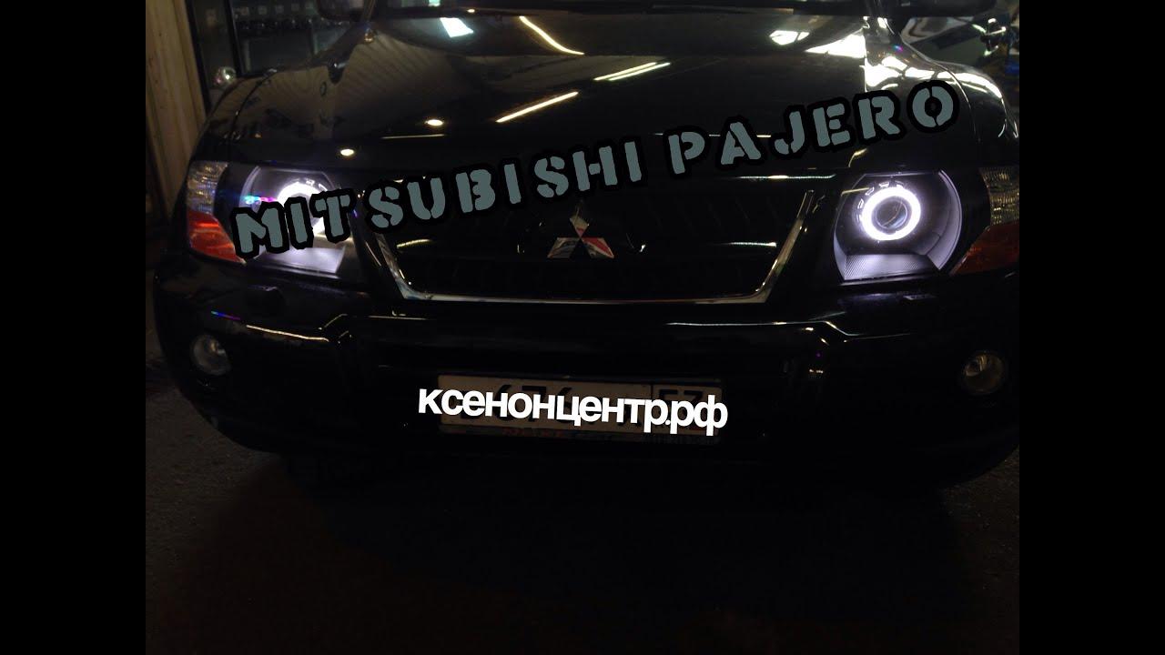 Mitsubishi Pajero. Установка линз биксенон. Моримото 3.0 дюйма. Покраска фар