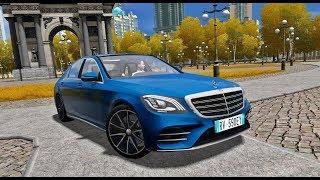 City Car Driving 1.5.5 - Mercedes-Benz S560 V8 2018   Custom SOUND   DAY DRIVE   1080p & G27