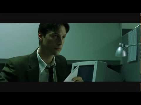 The Matrix Escaping from Work Scene HD