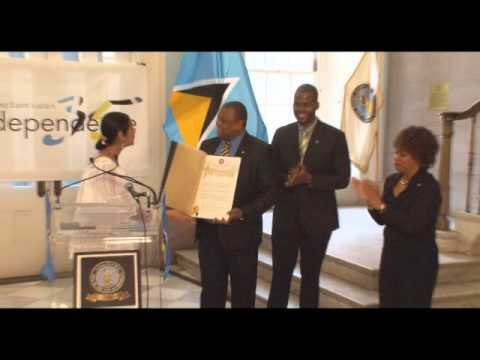 One Brooklyn-- Celebrating Saint Lucia's 35th Anniversary of Independence at Brooklyn Borough Hall