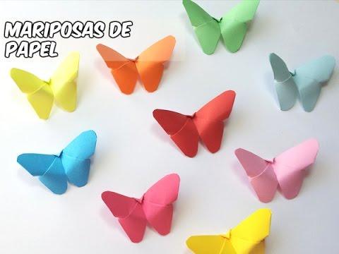 Como hacer mariposas de papel faciles youtube - Como hacer mariposas de papel ...