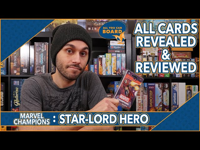 STAR-LORD Hero | Marvel Champions | All NEW Cards REVIEWED & ANALYZED! (So Many ENCOUNTER CARDS!)