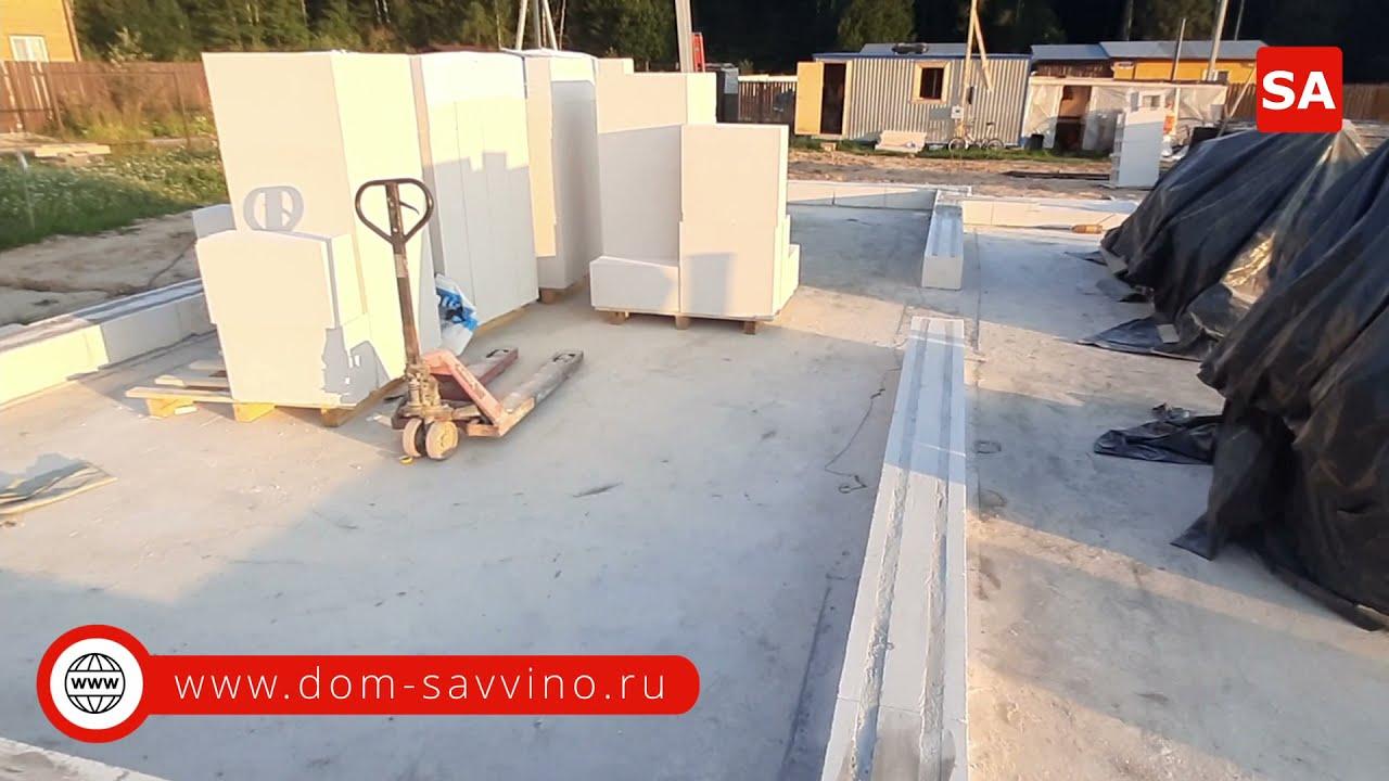 Начали первый ряд на проекте Саввино в Можайском районе