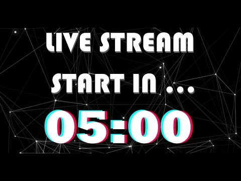 Black Tik Tok Live Stream Start Soon Intro Template With Animated Background