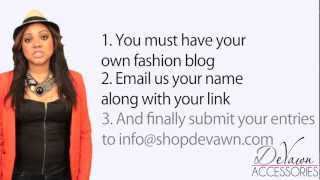 Fashion Blogger Contest: Fashion Accessories, Jewelry, Website Relaunch Thumbnail
