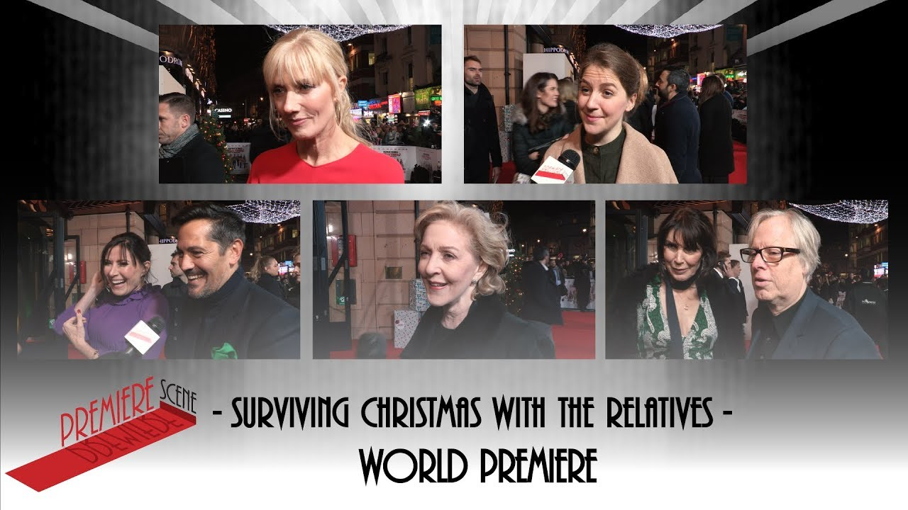 Surviving Christmas.Surviving Christmas With The Relatives World Premiere Interviews Gemma Whelan Joely Richardson