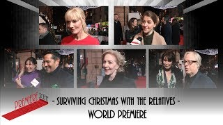 Surviving Christmas with the Relatives - World Premiere interviews - Gemma Whelan, Joely Richardson