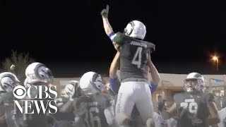 Texas teen with special needs scores 50-yard touchdown at high school football game