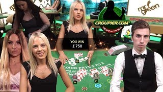 ONLINE BLACKJACK SUITED TRIPS SIDE BET HUNT vs £2,000 Bankroll at Mr Green Casino!