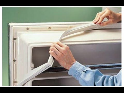 Как установить резинку на холодильник