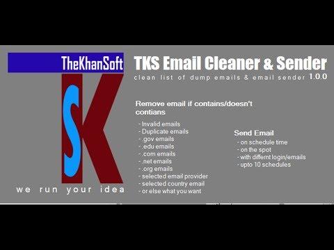 TKS Email Cleaner & Sender