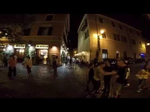 Walking in Trastevere by night