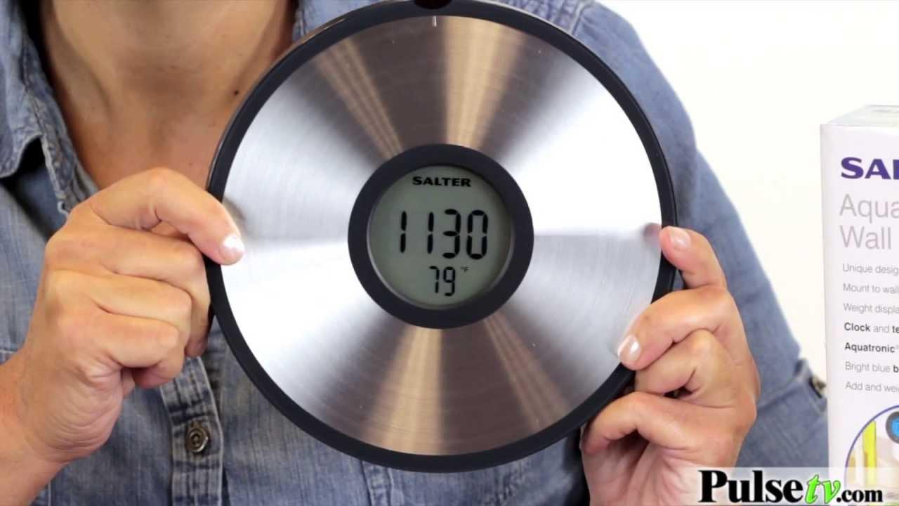 Aquatronic Wireless Wall Mounted Kitchen Scale Youtube