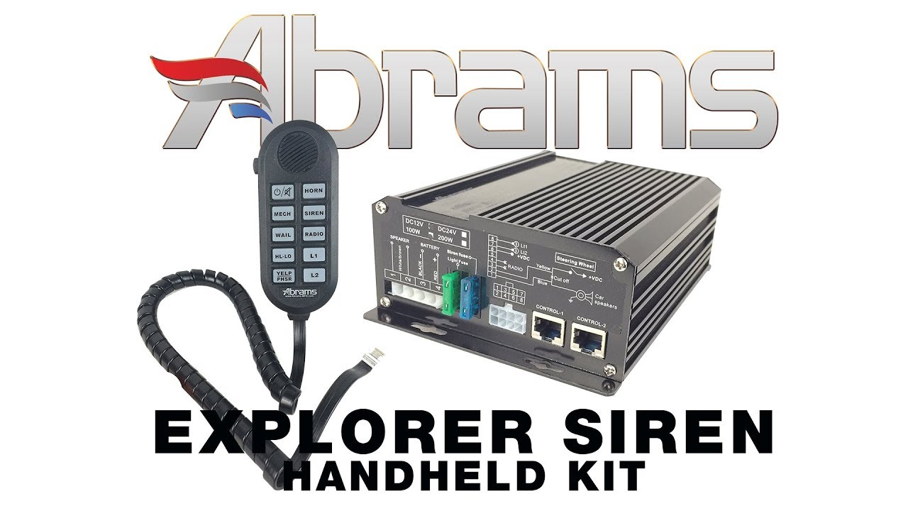 Abrams Siren Wiring Diagram Not Lossing System Explorer Handheld With Mechanical Tones Pa Rh Youtube Com Whelen Code 3